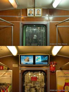 The moment you realize that Berlin and Pyongyang have the same subway wagons.