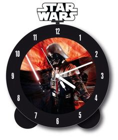 Wake up daily to this glow in the dark Star Wars Darth Vader Alarm Clock - you'll never be late again! Star Wars Alarm Clock, Darth Vader, Online Greeting Cards, Dark Star, Star Wars Collection, The Darkest, Lights, Starwars, Saga