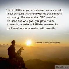 Deuteronomy 8:17-18 thank you god, the anointing abides permanently. No one can stop god's plan for my life.