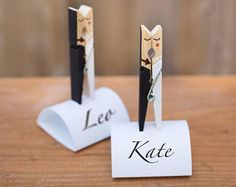 5 Wedding Name Holders Mr And Mrs Table Decoration Numbers Card Holder Favours