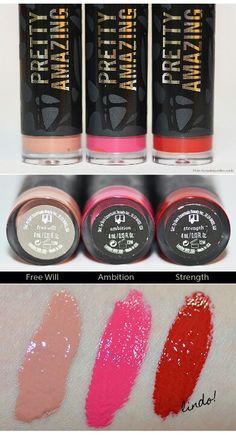 Bare minerals Pretty amazing - a Lipstick not gloss very creamy and Color full (images by Makeup Atelier blog)