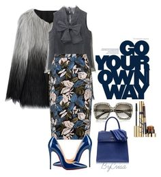 """""""Untitled #562"""" by crisa-gloria-eduardo on Polyvore featuring Chicwish, Alexander McQueen, Charlotte Olympia, Estée Lauder, Christian Louboutin, women's clothing, women, female, woman and misses"""