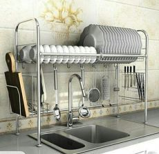 Dish Rack Kitchen Over Sink Storage Stand for sale on Trade Me, New Zealand's auction and classifieds website Kitchen Rack, Kitchen Sink Design, Kitchen Sink Drying Rack, Kitchen Organization, Kitchen Design, Diy Kitchen, Kitchen Remodel, Kitchen Storage, Sink Design