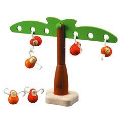 Plan Toys 53490 Balancing Monkeys: Amazon.co.uk: Toys & Games