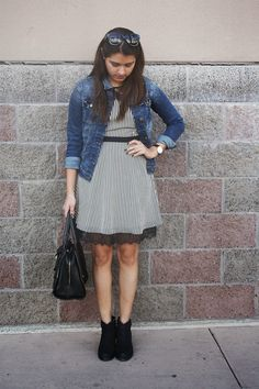 OUTFIT: The Denim Jacket - Petite Fashion Monster