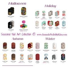 Yeah Yeah Yeah!!! The The Seasonal Collection of nail art wraps is here! I can't wait to get my hands on the new  Halloween  wraps!!!   ***   PM Me!    ***   #JamminNailsByKim #NailWraps #Manicure #Pedicure #NailArt #NailArtDesign #NailFashion #DIYNails #DIYBeauty #DIYNailArt #NailDesign #NonToxicBeauty #CleanBeauty #CrueltyFree #VeganBeauty #EcoFriendly #IHaveAWrapForThat #Jamberry #Gift #Seasonal #Holiday #Autumn #Winter #Fall #Harvest #Thanksgiving #Christmas #Chanukah #Halloween