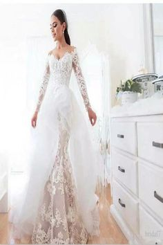 2c318d96b71 Sexy Off Shoulder Mermaid Country Wedding Dress Bridal Gown Size 2 4 6 8 10