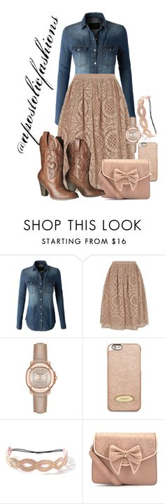 """Apostolic Fashions #1574"" by apostolicfashions ❤ liked on Polyvore featuring LE3NO, Burberry, MICHAEL Michael Kors, Deepa Gurnani, Mossimo Supply Co., modestlykay and modestlywhit"