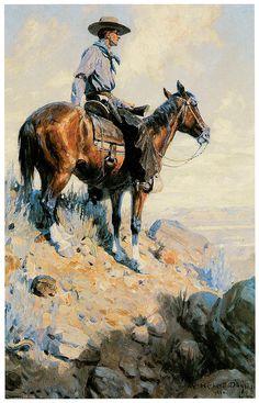 William Herbert Dunton Painting - Sentinel Of The Plains by William Herbert Dunton