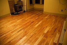 Floor tile that looks like wood.
