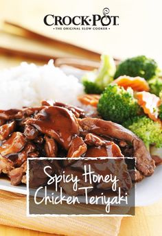 This sweet and spicy Asian-inspired dish is guaranteed to beat takeout any night! Make this Spicy Honey Chicken Teriyaki for a stress-free back-to-school family dinner! http://bit.ly/2b1LUcZ [Promotional Pin]