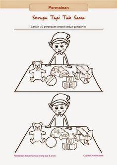 Hasil Gambar Untuk Kejanggalan Gambar Untuk Anak Tk Mainan Anak Anak Kreatif