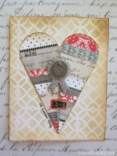 A great tutorial on creating the layered heart - One Lucky Day: Petal Drop Valentine