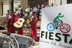 During a press conference at City Hall on March 18, 2013, San Antonio Mayor Julian Castro encourages Fiesta attendees to make healthier food choices, recycle and used the B-Cycle program during the 11-day event. Fiesta 2013 officially kicks off on April 18. Photo: JERRY LARA, San Antonio Express-News / © 2013 San Antonio Express-News