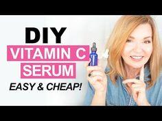 DIY Vitamin C Serum – Easy & Cheap! – Pretty Over Fifty Natural Facial, Natural Eyes, Facial Treatment, Skin Treatments, Diy Vitamin C Serum, Best Drugstore Makeup, Beauty Youtubers, Face Serum, Simple