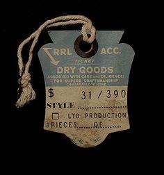 DIKAYL RIMMASCH   DIKAYL RIMMASCH   RALPH LAUREN / DES.   Design Vintage Words, Vintage Tags, Vintage Labels, Custom Hang Tags, Tag Design, Graphic Design, Print Design, Clothing Store Design, Clothing Tags