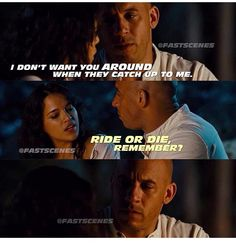 I'm lucky to have the same love Dom has for Letty in my life