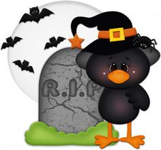 View Design #66947: halloween crow at grave pnc