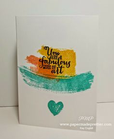 Simple Saturday: 2014-2015 Stampin' Up Annual catalog Sneak Peek with Work of Art stamp set from papermadeprettier (Kay Cogbill)