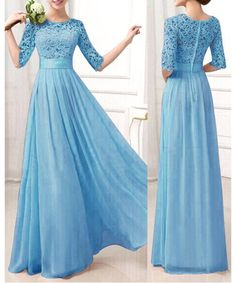 I adore this. Beautiful dress and beautiful color