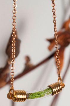 Living terrarium necklace.