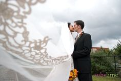 Such a creative shot of the veil!