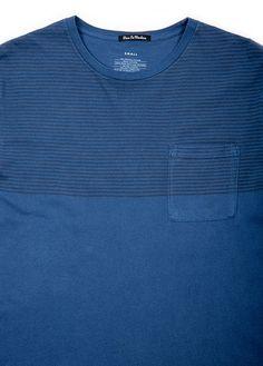 Deus Ex Machina - Paulo Stripes Tee in Blue