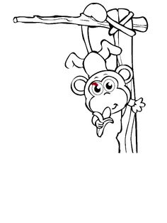 Monkey Coloring Pages, Emergency Preparedness Kit, Online Coloring Pages, Free Baby Stuff, Scrap, Tat