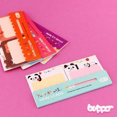 Kawaii-fy your note-keeping with these small animal shaped note stickers! Cute bunnies, lazy pandas, sleepy bears or cheerful birds! The pages are perfect for short notes you can stick everywhere! You can also use them to mark books and magazines. Available in 4 different styles. So adorable!