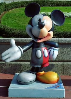 Mickey Mouse Statue by Jeff_B., via Flickr