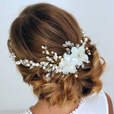 Very beautiful and unusual Bridal Headpiece ! This Bridal Hair Vine was created with love for a special wedding. A lot of crystals and pearls was used for this amazing Bridal Headpiece!You will be beautiful in this bridal wreath and will get a lot of compliments! *The product is