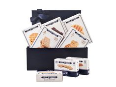 Discover Jules Destrooper Biscuits! - Best Gifts Delivery To Hungary  Price:  US$49.99  Cookie aficionados will flock to this gift. An extensive collection of Destrooper's gourmet Belgian cookies. Inside the elegant Destrooper blue gift box are cashew and orange thins, apple thins, butter crisps, butter crumbles, ginger thins, almond thins, and chocolate covered biscuits with crispy rice.