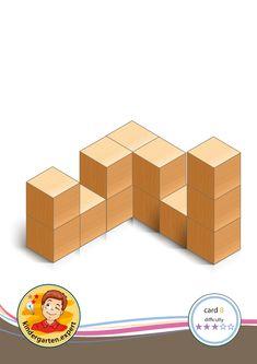 Buiding card difficulty 3 for block area, for kindergarten and preschool, kindergarten.