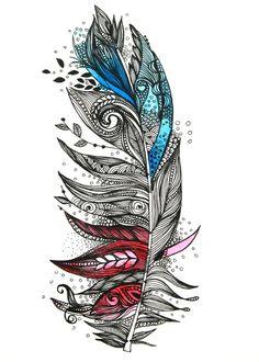 Garden Feather Art Print by Himadri Pachori