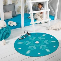 Arte Espina Kids Rugs 4186 57 Blue Rooms, Blue Bedroom, Girls Bedroom, Contemporary Rugs, Modern Rugs, Circular Rugs, Childrens Rugs, Printed Curtains, Calming Colors