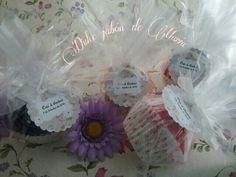 Cupcakes de jabón natural artesanal,  para bodas muy dulces!!!