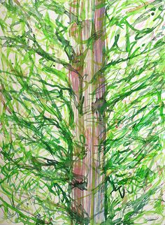 This Is Not A Tree by Heidi Capitaine#Capitaine#Art#Artist#Painting#Contemporary#Watercolour#Abstract#FineArt#WallArt#Tree#Expressive#Green