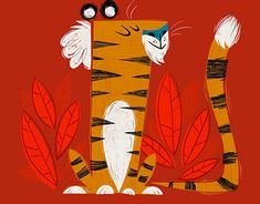 Textured hand drawn illustration for children's book New Work, Tigger, Childrens Books, Rooster, Disney Characters, Fictional Characters, How To Draw Hands, Behance, Illustrations