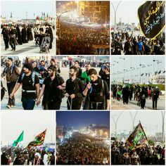 [ Millions of Non-Stop Lovers of Imam Hussein Walk from their Cities and Countries towards Imam Hussein's Holy Shrine to visit him]  #15Safar1437 #ArbaeenWalk #LabbayakYaHussein