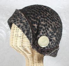 abby flapper cloche in leopard