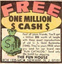 Comic Book One Million Cash
