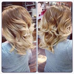Blonde Ombre hair by lacy Eakin. i love this, love it!! but i really want to keep my dark, natural color. so i would do this exact look, only with darker colors<3