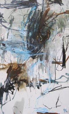 """Laurence Garnesson. """"Echo"""", médium et huile sur toile, 2012"""