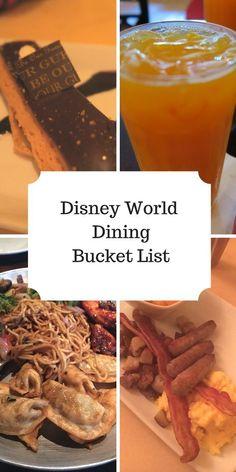 My Disney Dining Plan Bucket List - The Life Of Spicers - Disney World Food - Best Disney World Restaurants, Disney World Food, Disney World Magic Kingdom, Disney World Florida, Disney Vacation Club, Disney World Planning, Disney Vacations, Walt Disney World, Disney Travel