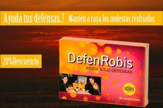 DefenRobis aumenta las defensas contra las infecciones de cualquier causa, incluyendo víricas y acantonadas. Facilita la recuperación del organismo durante la convalecencia de las enfermedades infecciosas
