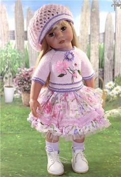 """Комплект для Gotz. """"Розовый букет! / Одежда для кукол / Шопик. Продать купить куклу / Бэйбики. Куклы фото. Одежда для кукол"""