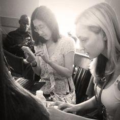 Pop-Up Newsroom reporters Joell Grager and Jennifer Yamada reporting CicLavia Fall 2013