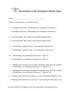 quotation marks teaching quotation mark quotation punctuation quotation marks this handout and two quizzes focus on punctuation quotation marks in essays particularly in text citations