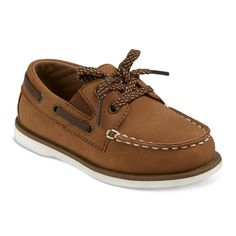 Toddler Boys' Clive Boat Shoes Cat & Jack - Brown 10, Toddler Boy's