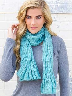 Above the Clouds Scarf Knit Pattern Design Lena Skvagerson from Annie's Signature Collection